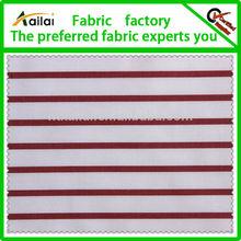 red white stripe sports shirt fabric