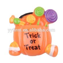 "W0404062 Hot Sale 24*27mm Halloween Pumpkin ""Trick Or Treat"" Resin Flatback Cabochon Kawaii Decoden Cabochon"