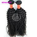 Top grado 5a 100% brasileño rizado rizado remy extensiones de cabello