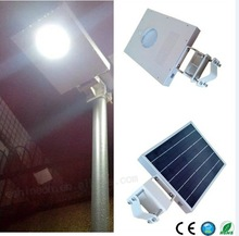 High quality factory price durable aluminum 6/8/12W integrated replaceable all in one solar led street light