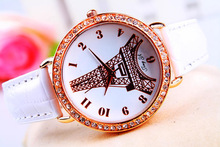hot women fashion hand watch gold tone stone studded wrist watches