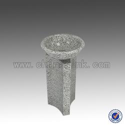 White Granite G603 Pedestal Sink, Polished Finish, Cheap Granite Pedestal Sink