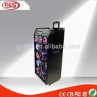 professional oem big bluetooth amplified speaker with LED lights fm radio