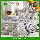 New design elegant pretty colorful adult flower printing home textile european bedding set