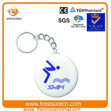 Acrylic swimming keychain for souvenir