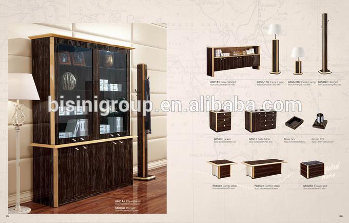 para libros de madera con puertas de vidrio, Ejecutivo muebles de
