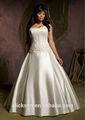 shimmering bola vestido longo comboio frisado cetim appliqued big tamanho vestidos de noiva preço