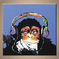 ทำด้วยมือขายส่งลิงตลกภาพวาดบนผืนผ้าใบ