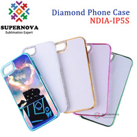 Sublimation Diamond Bling Case for iPhone 5 5s, Custom Printable Mobile Case