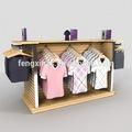 Roupas prateleira show/prateleira de madeira roupas/barra de madeira prateleira