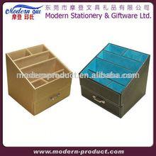 genuine leather desk drawer organizer with photo frame