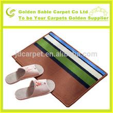 2014 fashion design anti-slip cutting woven mat/rug/carpet
