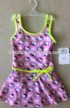 2014 hot selling little girl dress swimwears (B9061)