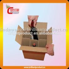 Top quality custom printing six pack beer box,cardboard 6 pack wine carriers
