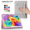 Folio case cover flip Elastic Hand Strap For Samsung Galaxy Tab S 10.5