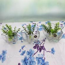 unique mini star shaped glass vases