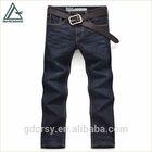 Man 2014 new fashion american design dark blue wrinkled wash straight fit denim jeans pants