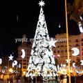 Shopping / shopping center branco luz decorado led da árvore de natal