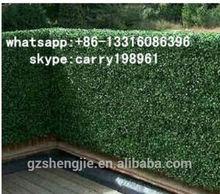 LXY072612 artificial green hedge oudoor decoration artificial boxwood hedge wiht fiberglass planter