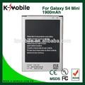 pilas y baterías genuino s4 mini pilas y baterías para samsung batería del teléfono móvil i9190