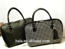D40 new style Elegant knit black and white shoulder bag handbag ladies fancy bag