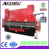 Anhui Accurl Brand Hydraulic CNC Brake 300T4000mm DELEM DA-66T Press Brake for 3 axis(Y1+Y2+X axis) with 2014 New Technology