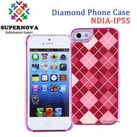 Sublimation Rhinestone Bling Phone Case for iPhone 5 5s, Custom Design Phone Case