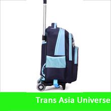 High Quality Custom Logo Cheap kids bags with trolley 3d