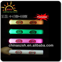 Promotional item led party foam sticks, 3 flashing and 6 flashing modes for choose