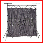 WLK-1W Black fireproof Velvet cloth white leds back drop curtain