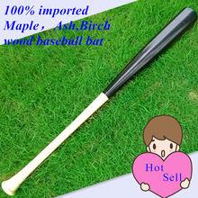 Wood baseball bat 100% imported hard Maple,Ash,Birch