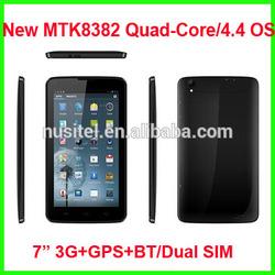 dual sim 3g gps bluetooth FM 1024*600 7 inch mtk8382 quad core android 4.4 3g sim card cheapest tablet pc with sim slot
