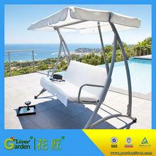 hotsale balcony hanging patio steel modern three seat garden metal swing seat