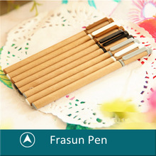 Natural Kraft Liquid Ink Pen,Eco Friendly Recycle Needle Nib Paper Gel Pens