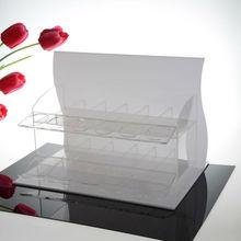 luxury elegant acrylic make up display shelf