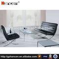 guangzhou caliente populares de estilo americano negro h933 de oficina moderno sofá de la espera