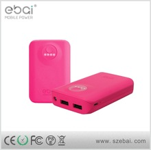Mini Portable Power Bank Emergency USB Charger battery power banks for Iphone 5 5s 4 4s samsung mobile phone 6600mah