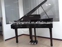 Digital Piano Factory 88 keys MIDI Black Polish Digital Grand Piano HUANGMA HD-W086 blue crystal piano for sale