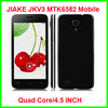"Cheap price 4.5"" IPS JIAKE V3 3G DUAL SIM MTK6582 1G RAM 8G ROM SMART MOBILE PHONE"