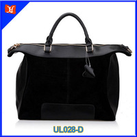 2014 fashion simple black leather tote bag UL028-D
