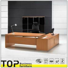 Wooden Furniture Office small office desk size dark teak veneer support color opition desk