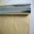 Reforzado con papel de aluminio para techos de papel entelado, de alta calidad de papel de aluminio de papel entelado, reforzado con papel de aluminio papel de aislamiento de la azotea