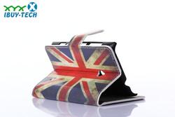 union Jack pattern folding wallet flip heavy duty shock proof case for nokia n520