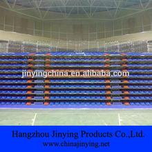 indoor gym telescopic grandstand with plastic seat