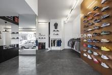 2015 ENRICH wood shoe display/shoe display design /shop shoe display