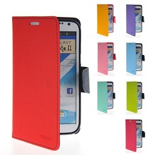 Flip Leather Wallet Card Shell Pouch Stand Case Cover For Samsung Galaxy Note2 N7100
