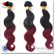 Human Hair AAAAA unprocessed ombre hair weaves brazilian hair bundle deals