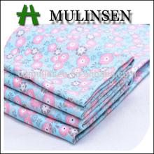 Mulinsen Textile Plain Small Flowers Printed Stretch Poplin Woven Cotton/Spandex Fabric