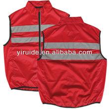 High visibility reflective safety vest running vest EN1150
