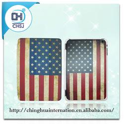 USA flag pattern folio pu leather slim tablet cover case for iPad mini